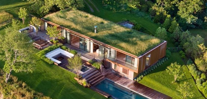 zelená strecha krytina plech